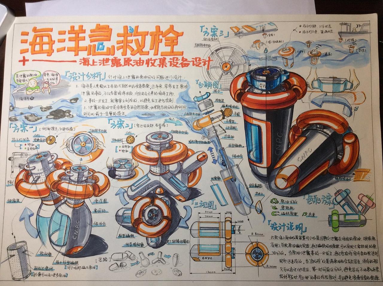 工业设计考研版面;工业设计考研手绘