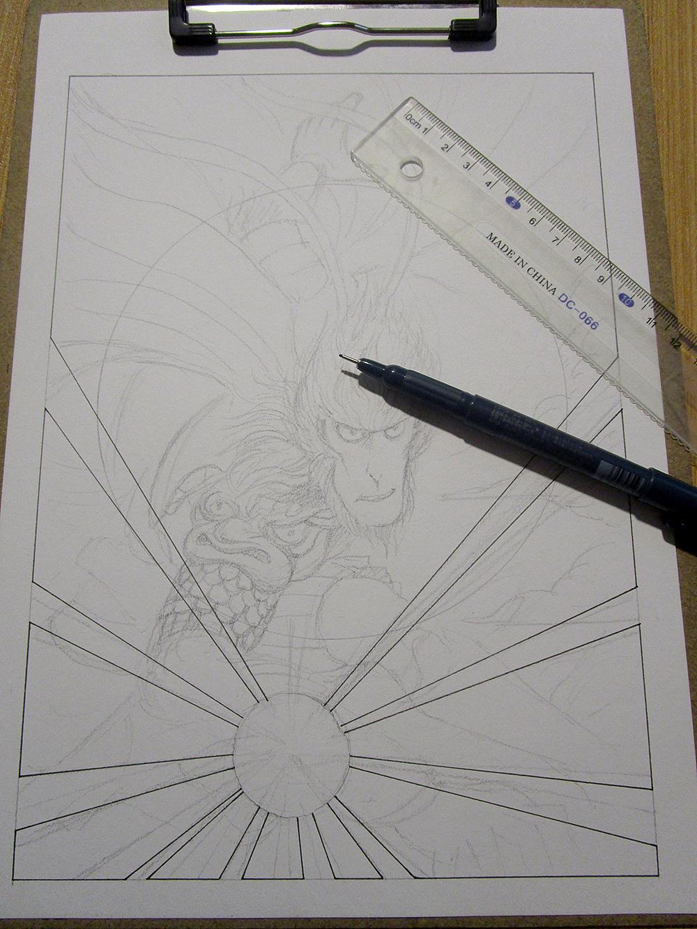 《大圣归来》手绘封面 过程详解