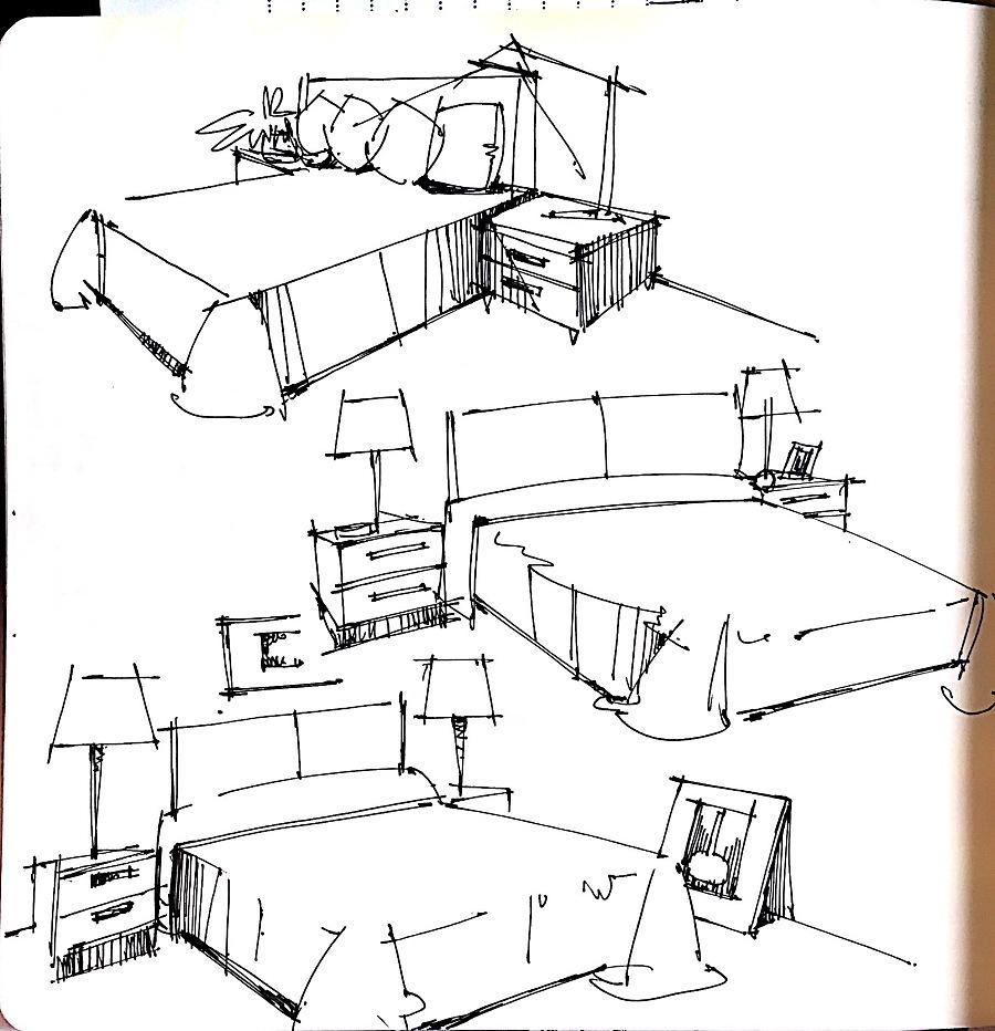 室内单体线稿|室内设计|空间|绿荚子 - 原创设计作品