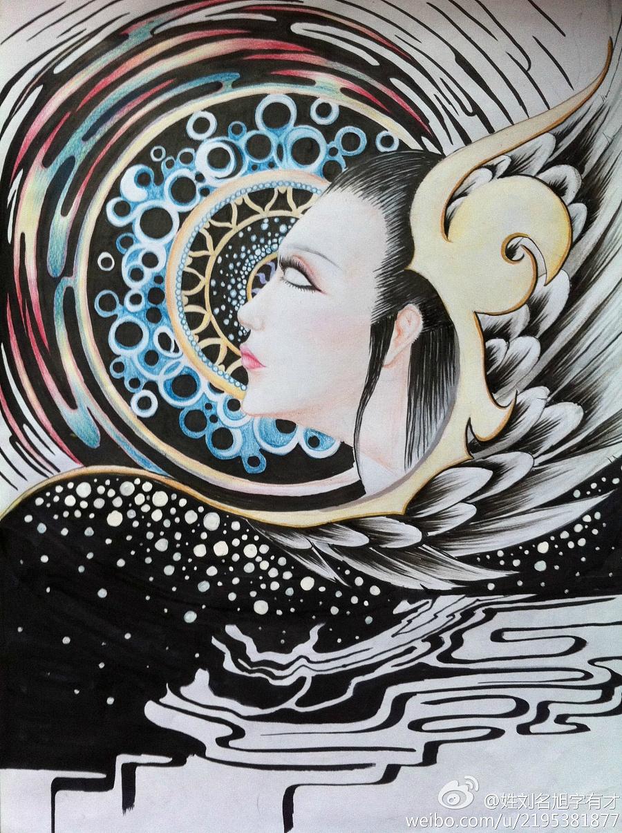 彩铅手绘|彩铅|纯艺术|姓刘名旭 - 原创设计作品