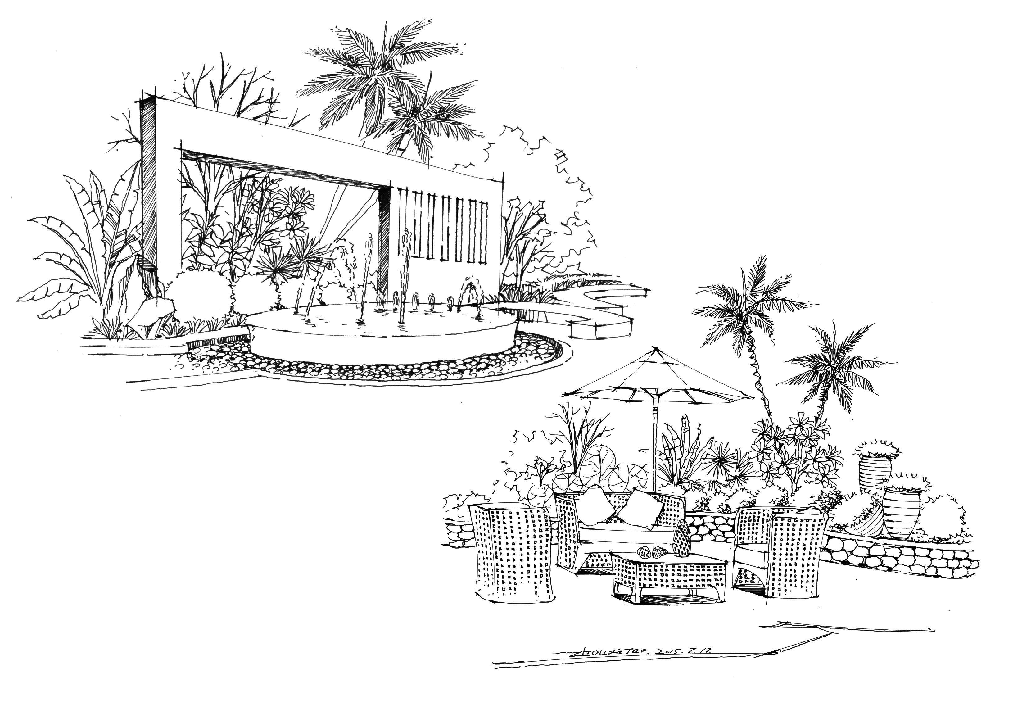 园林 景观手绘效果图图片,图片尺寸:994×673,来自网页:http://www.