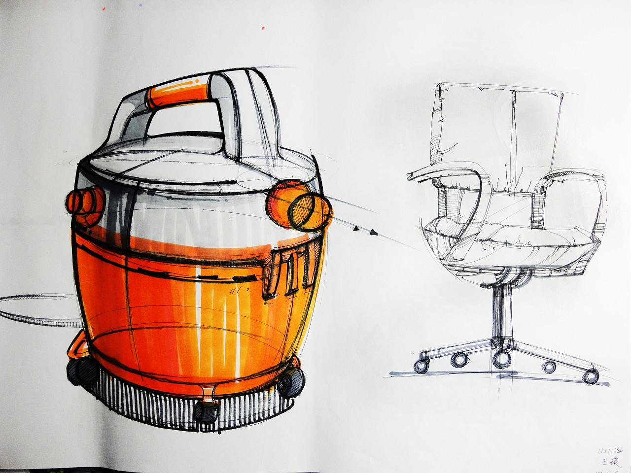 水杯设计三视图手绘