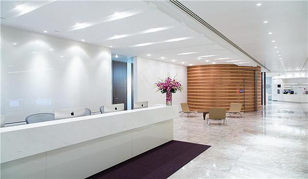 重庆办公室装修公司/办公室前台设计/办公室设计效果图图片