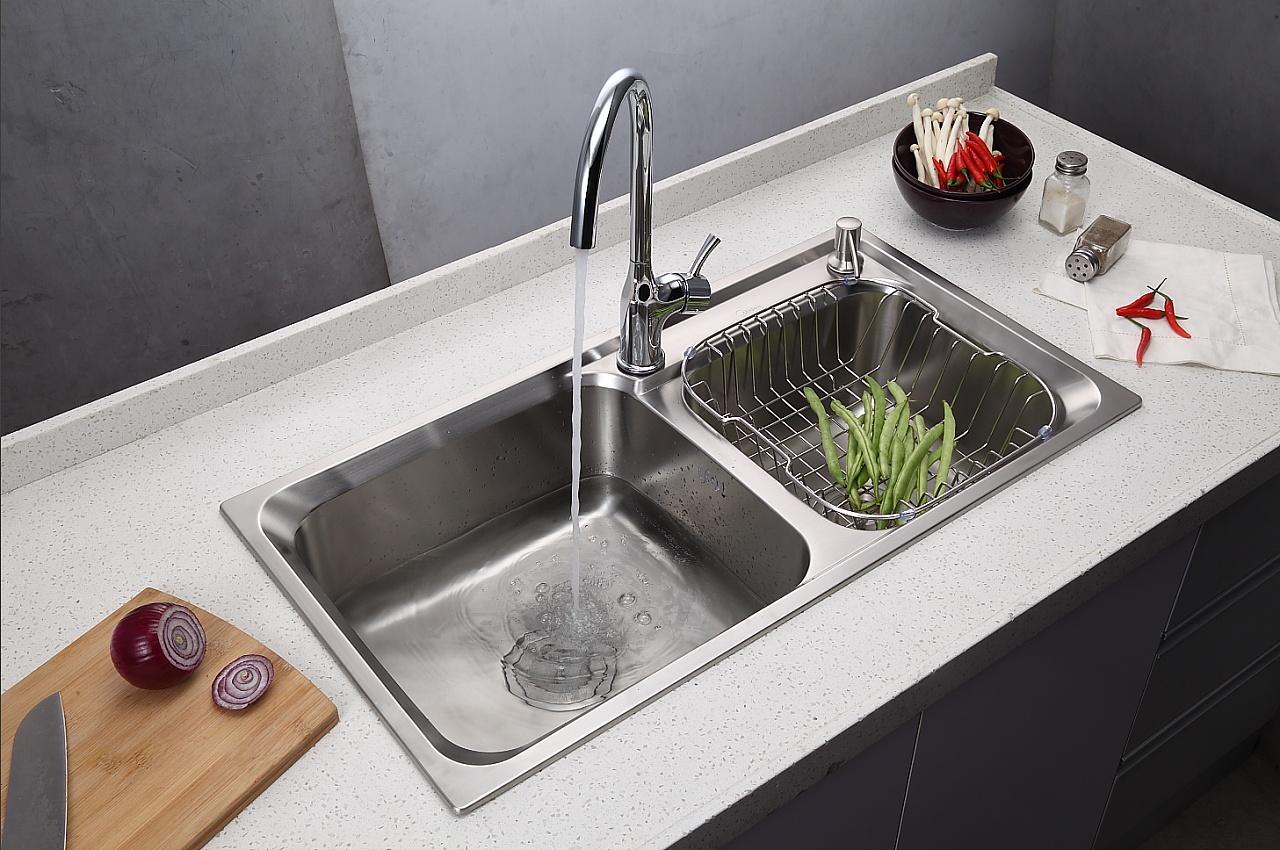 厨房水槽大单槽图片