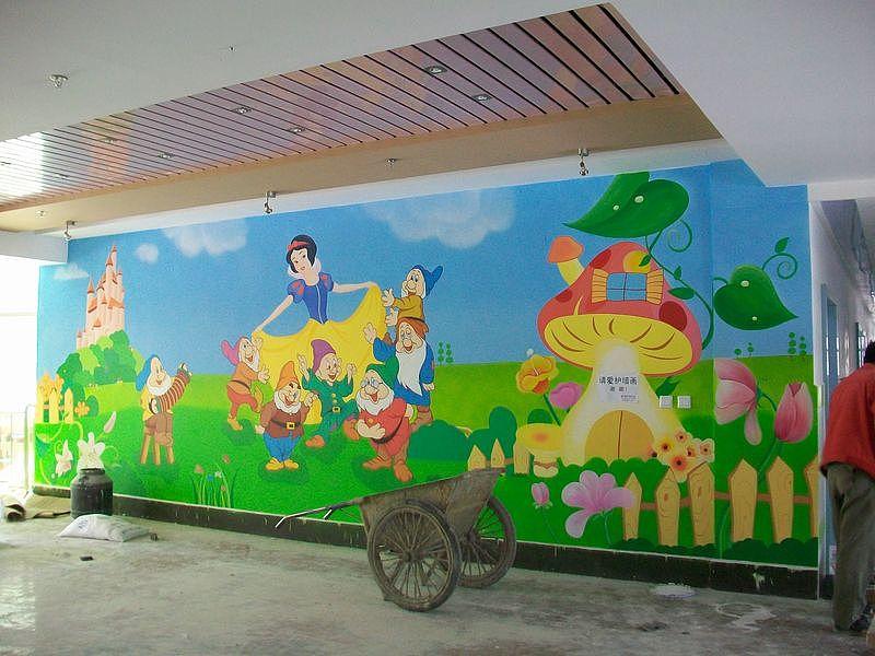 幼儿园室内壁画墙体彩绘手绘墙