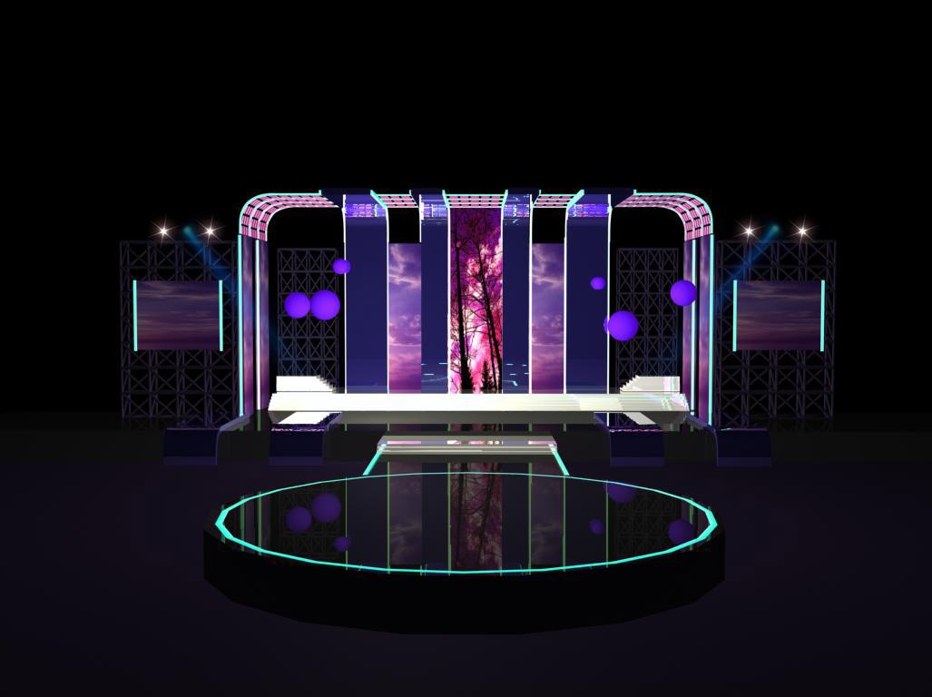 小型演唱会舞台效果图图片