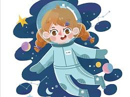 儿童插画 职业认知游戏