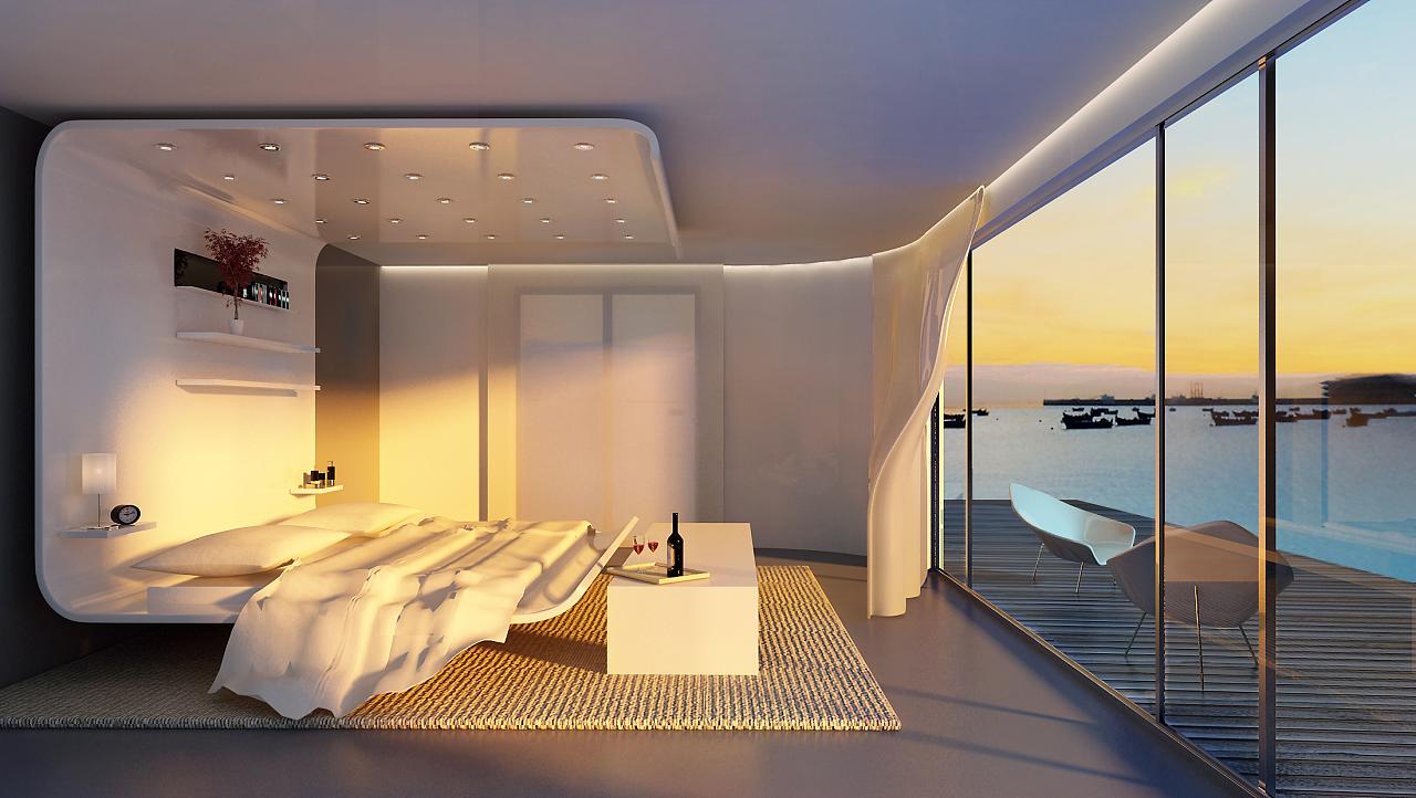 海景房-3d空间效果图