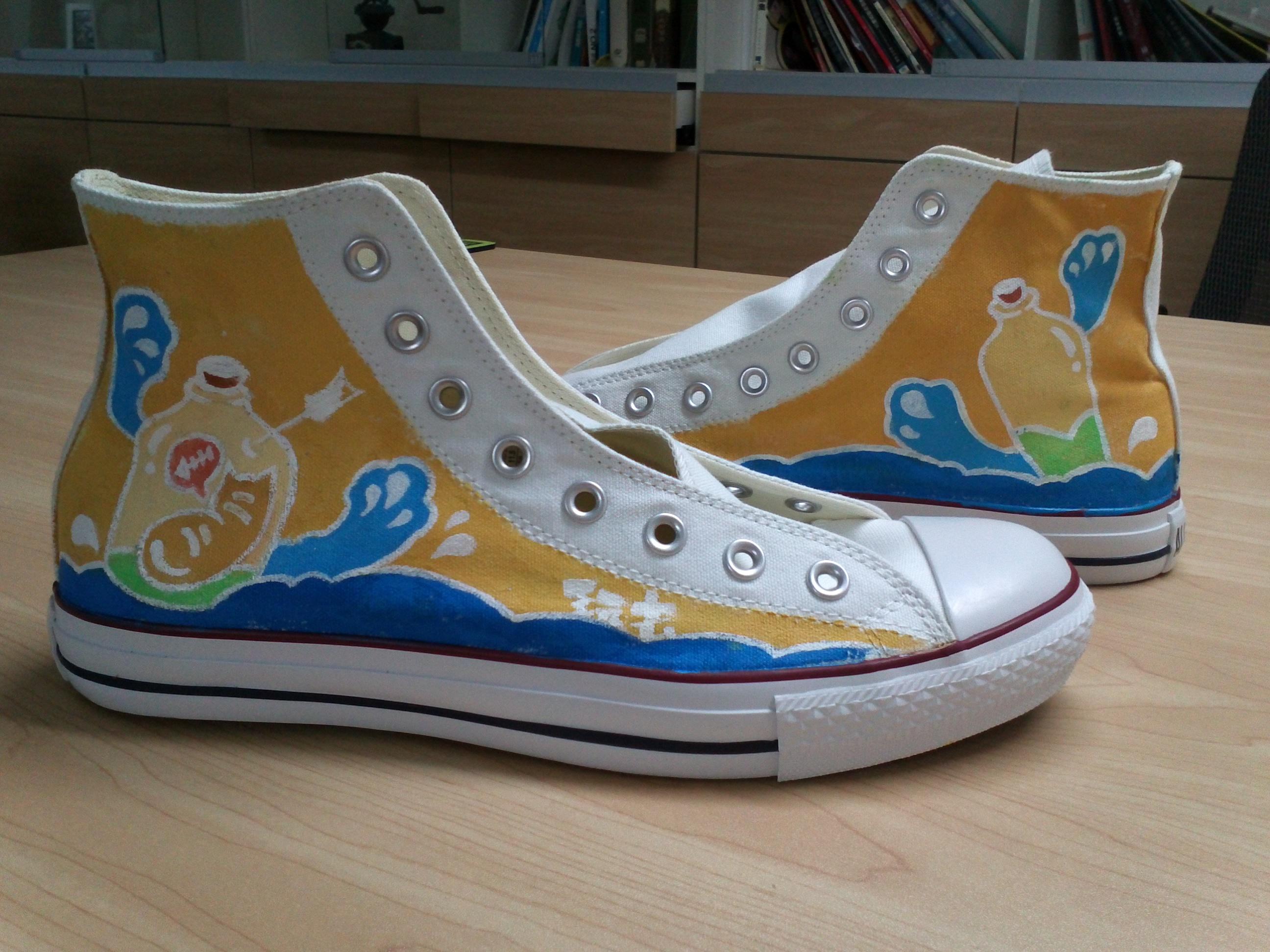 手绘鞋#漂流瓶