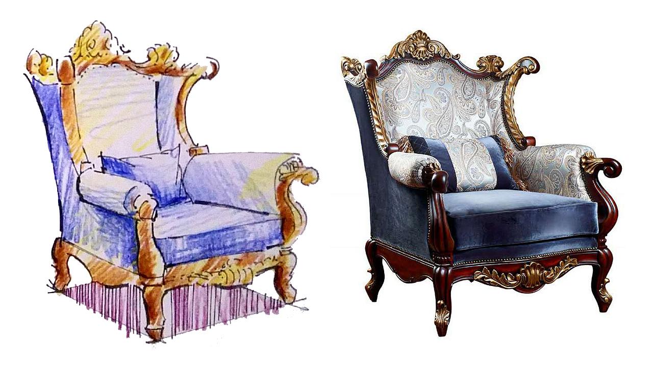 手绘家具快速表现(内附实景图参照) 工业/产品 家具