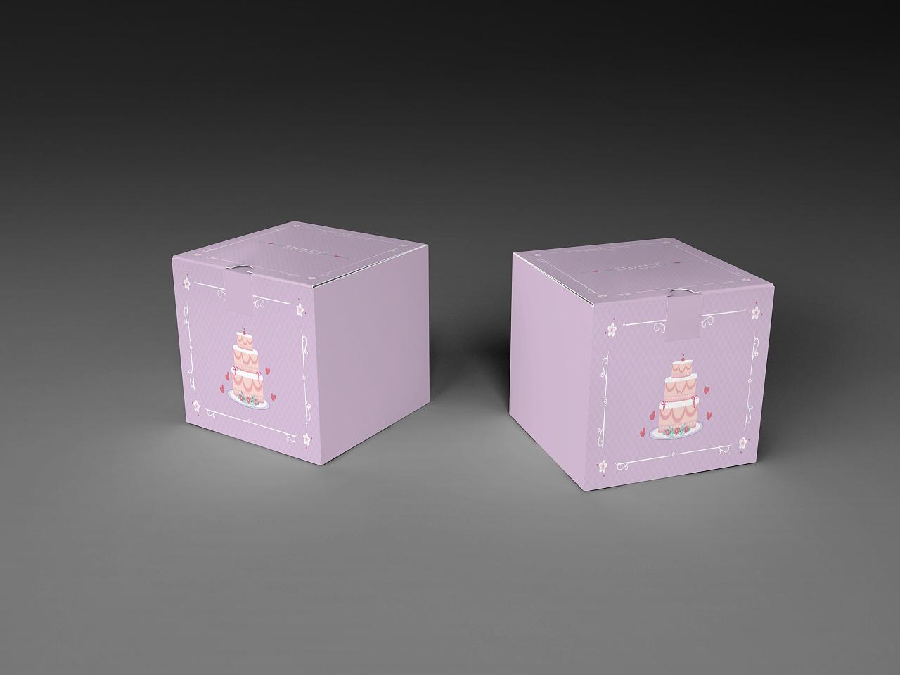 几款蛋糕盒设计图
