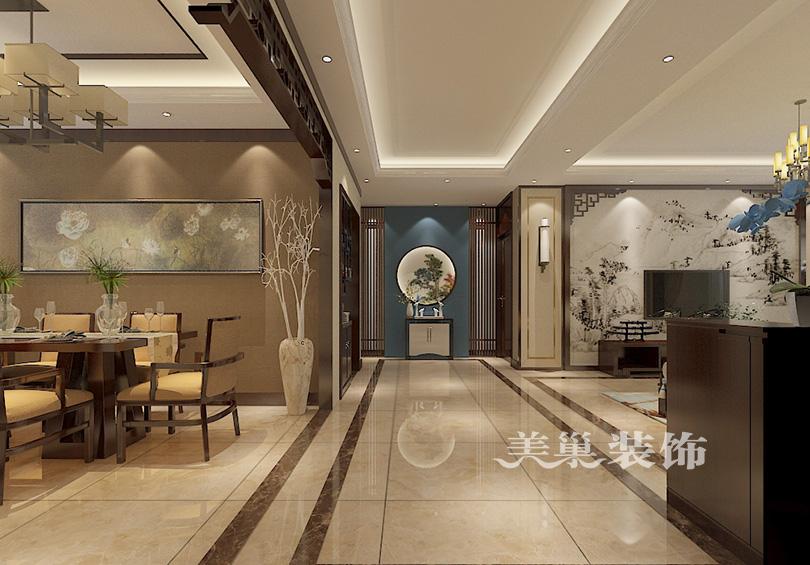 郑州安和风格174平四室两厅新中式文苑案例装汉文化相关景观设计图片