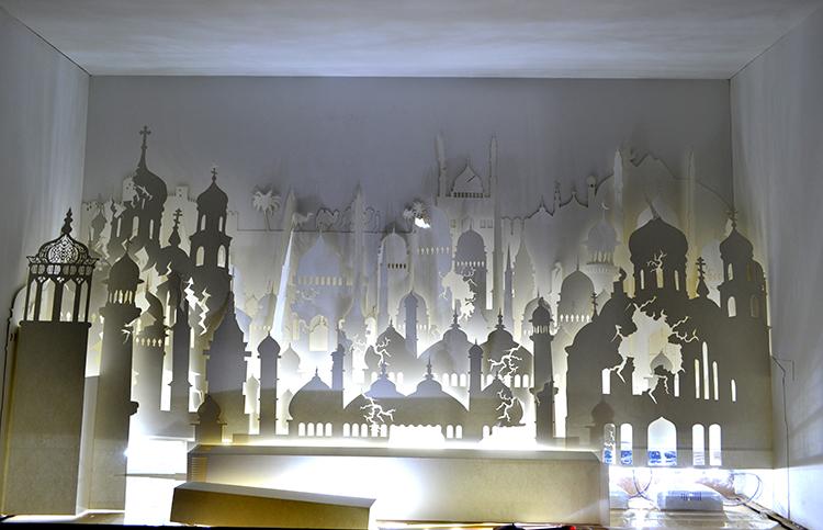 纸雕灯箱 橱窗设计|模型/平台玩具|手工艺|随风过客