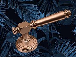 轻奢 门锁设计 铜锁设计 五金设计