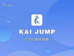 KAI JUMP 启跃留学APP-品牌LOGO设计