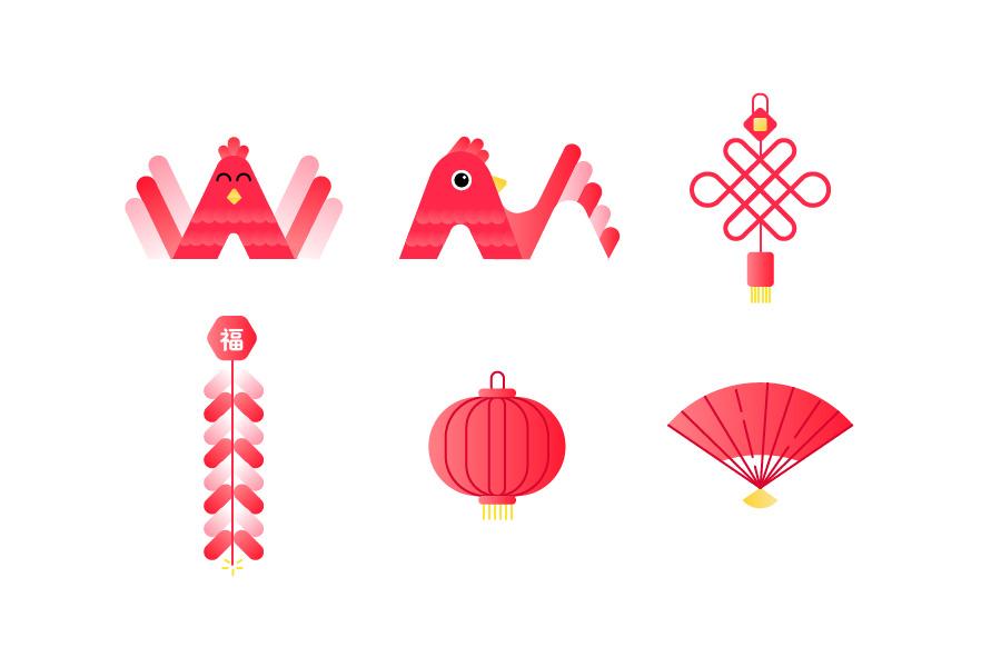 微卖-新年篇|图形/图案|平面|yezitoday图片