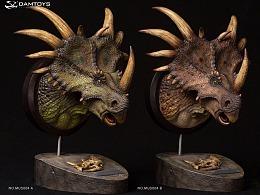 DAMTOYS 博物馆系列:戟龙头部雕像 收藏级雕像