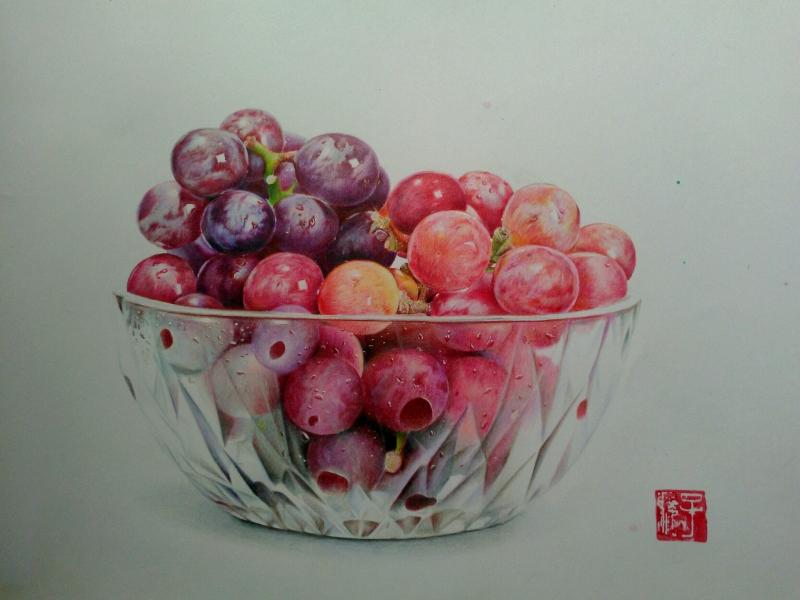 原创作品:彩铅手绘水果