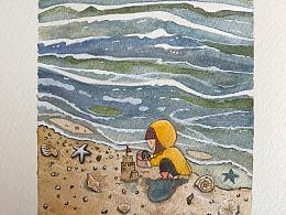 童年记忆中的海边