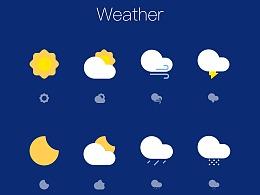 一组天气图标