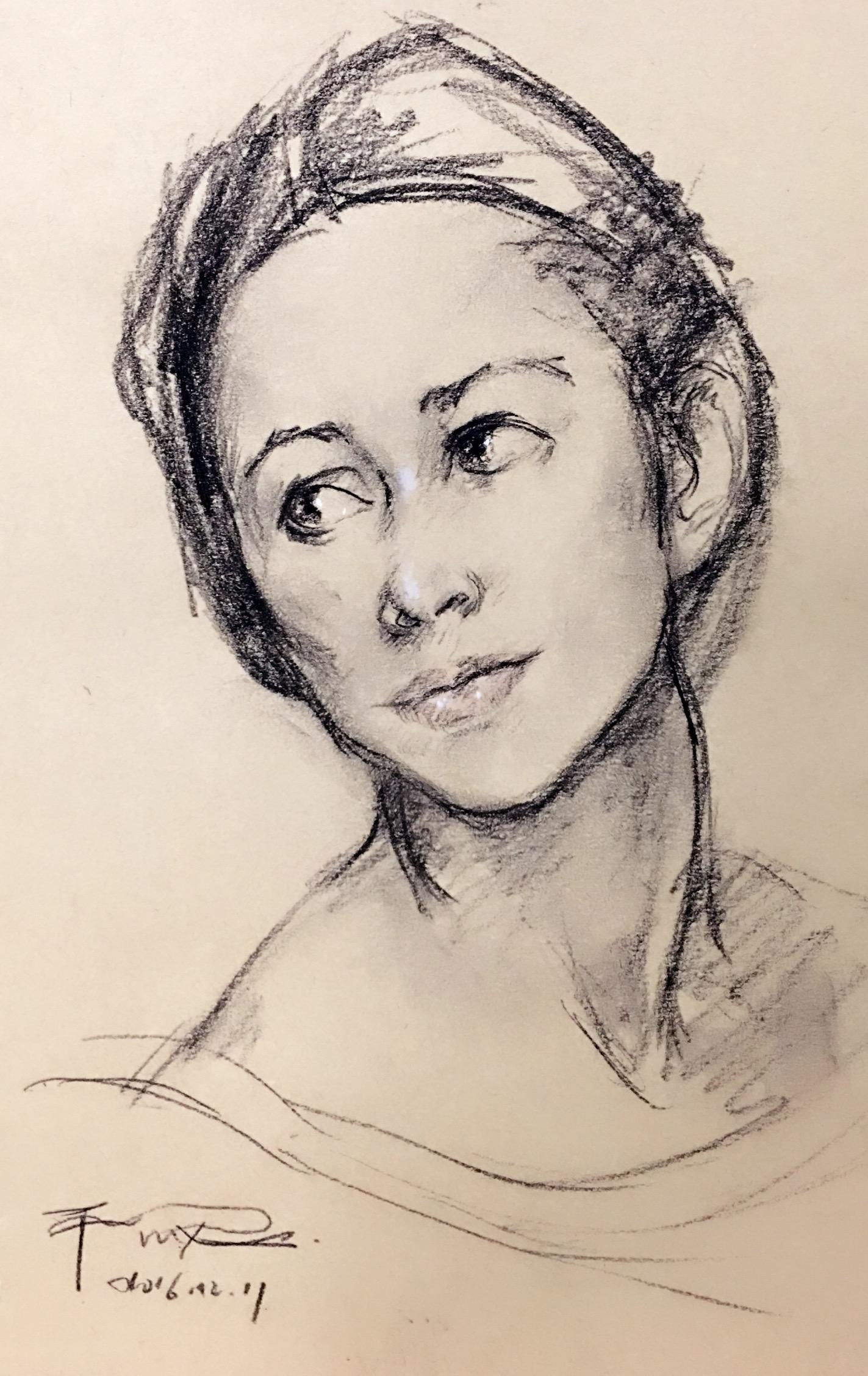 人物肖像素描图片