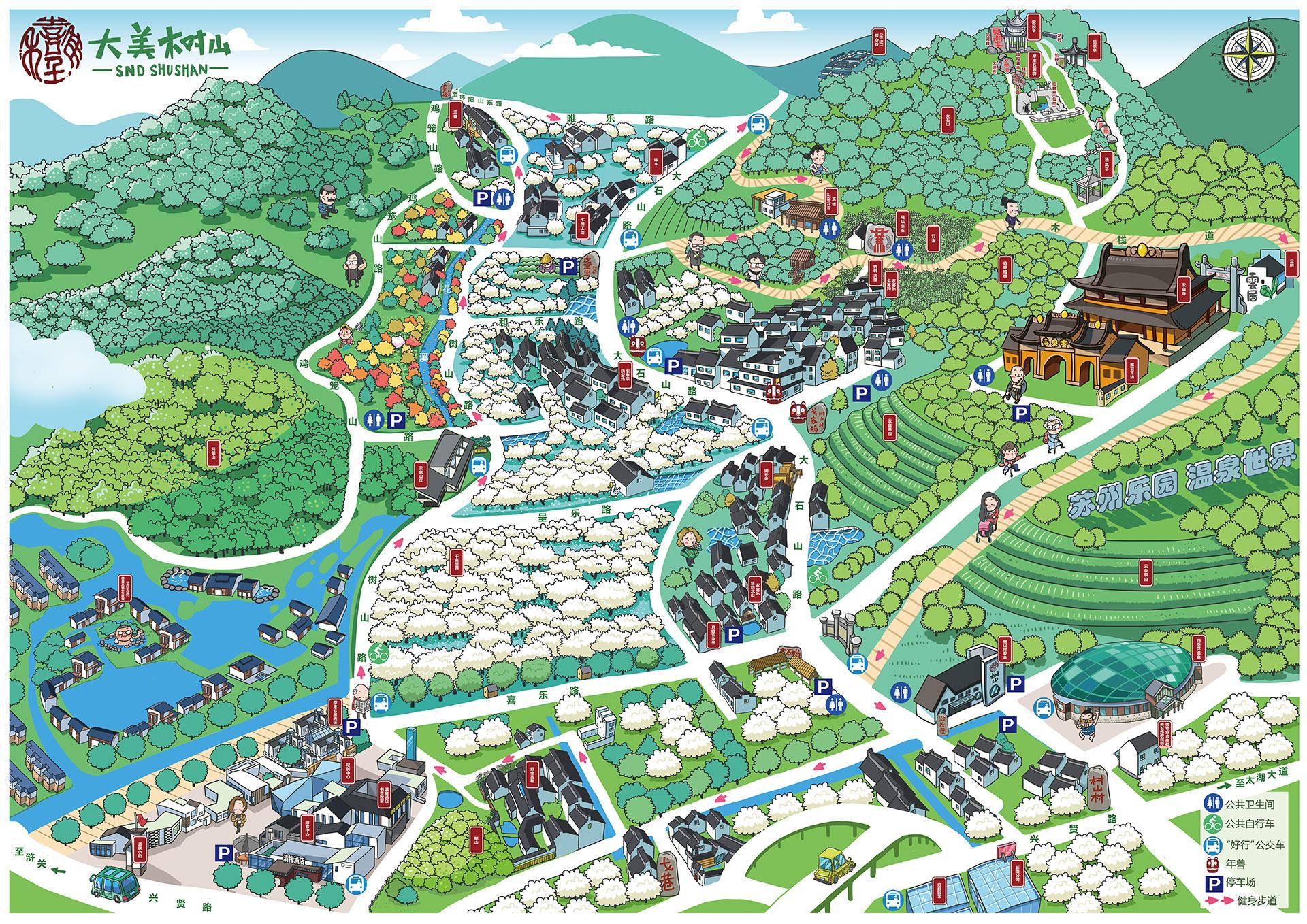 画《树山景区手绘地图》的点点滴滴