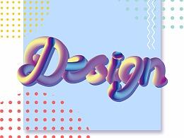 """日常学习——""""DESIGN""""字体海报设计"""