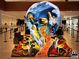 4d错觉海洋环保艺术展(万氏兄弟出品)