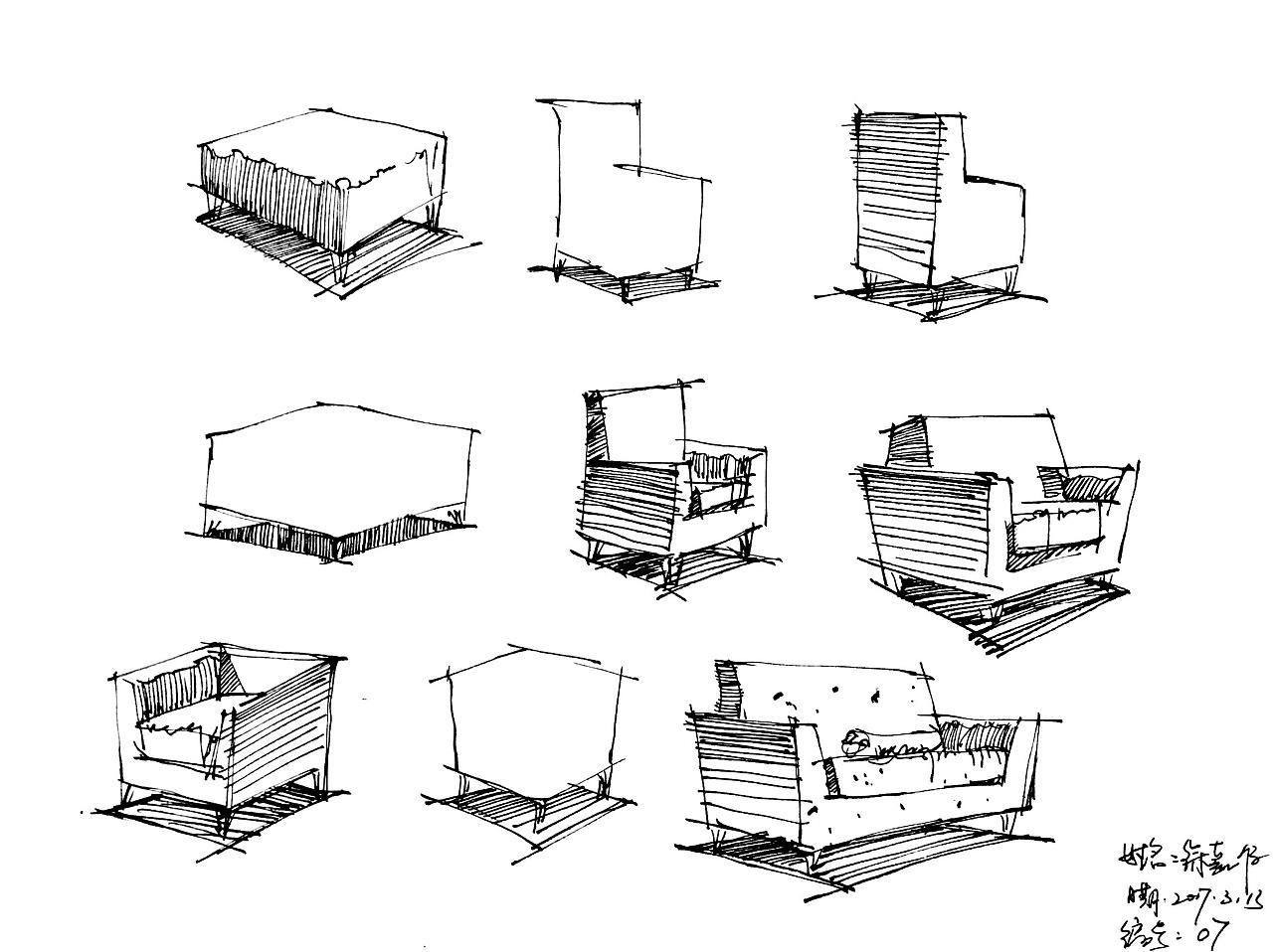 一些 手绘临摹或者写生 记录自己的设计之路
