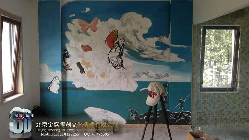 墙体彩绘 手绘墙 壁画 涂鸦 街头立体画 3d立体画