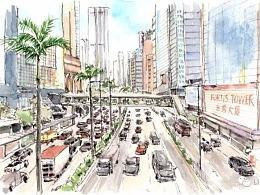 流光溢彩之旅—我的香港插画游记