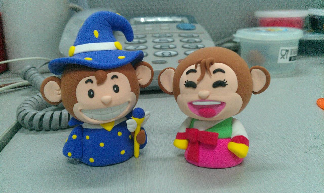 手工制作猴子娃娃过程