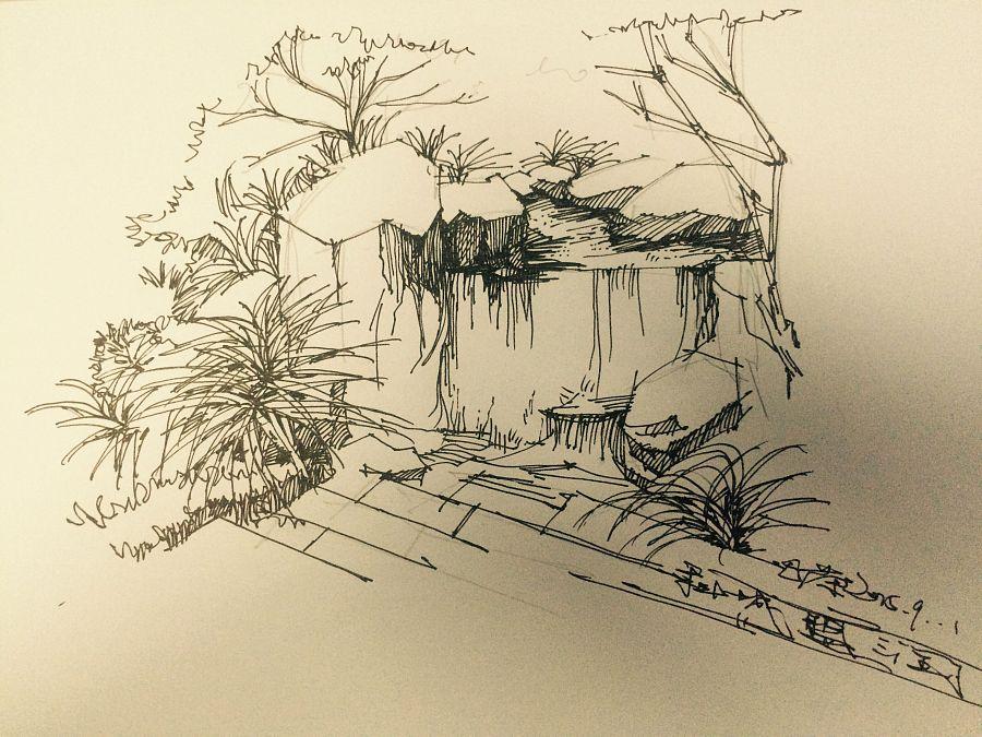 建筑,景观手绘