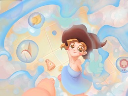 魔法妈妈动态图及部分绘制过程步骤图