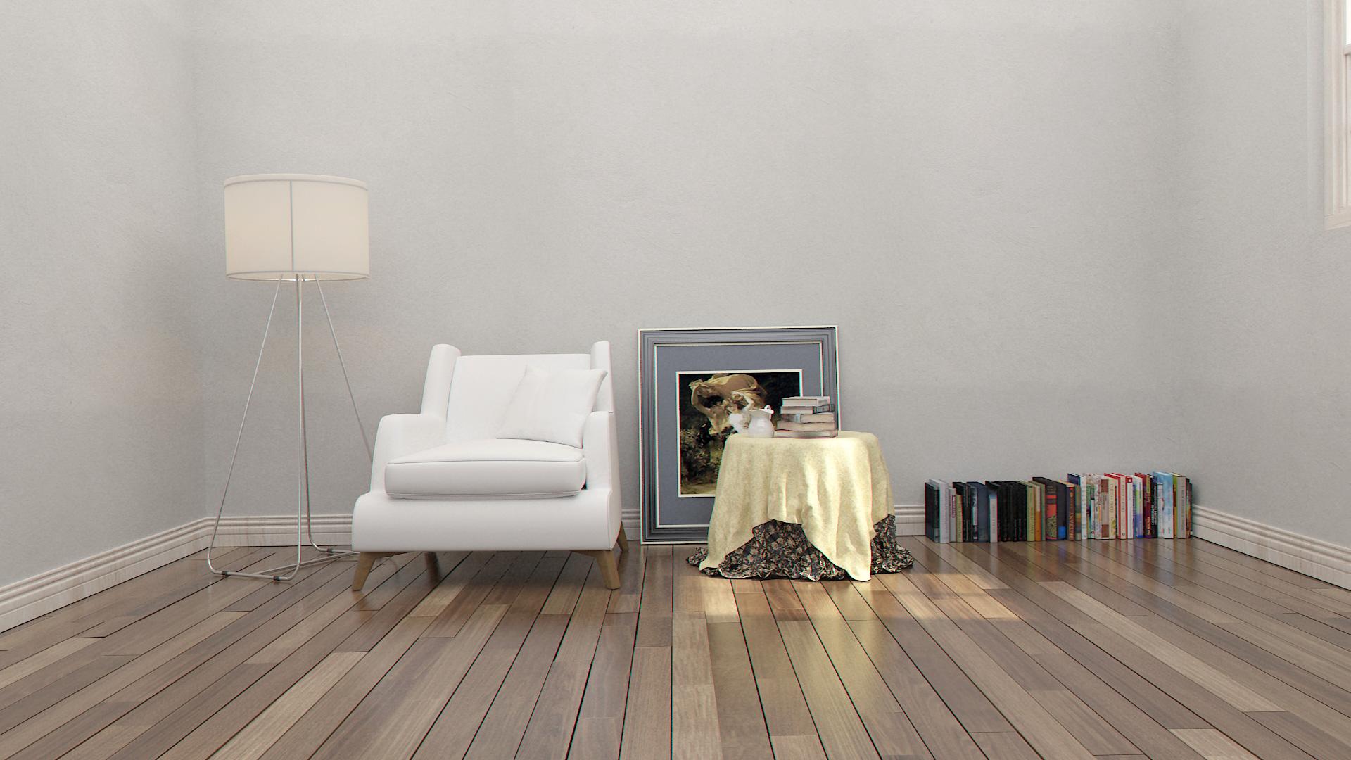 室内场景小练习|三维|建筑/空间|v巴大 - 原创作品