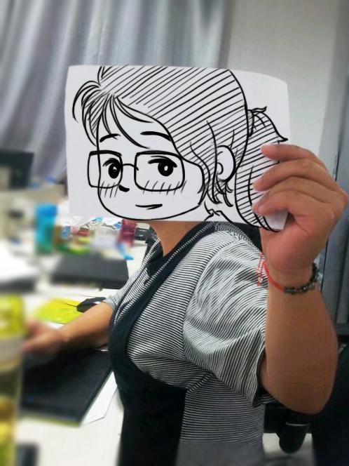 手绘q板|动漫|肖像漫画|789wang - 原创作品 - 站酷