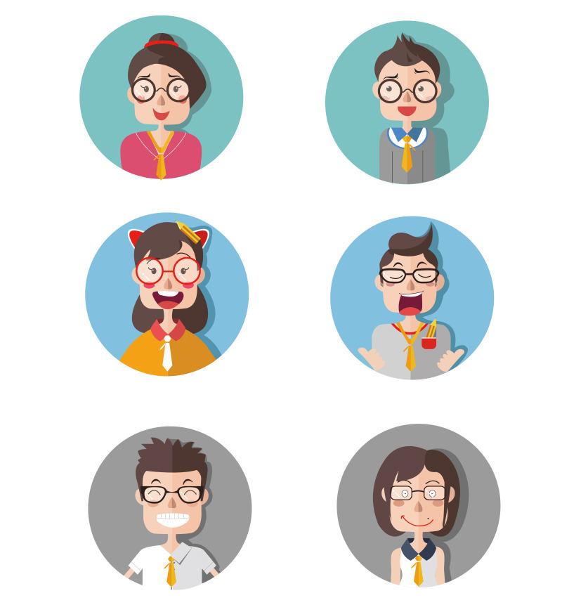 手绘icon人物 图标 ui play123 - 原创设计作品