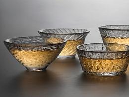 耐热玻璃杯 公道杯 茶杯 锤纹 日系茶道茶具