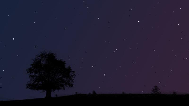 PS换天空,星空剪影