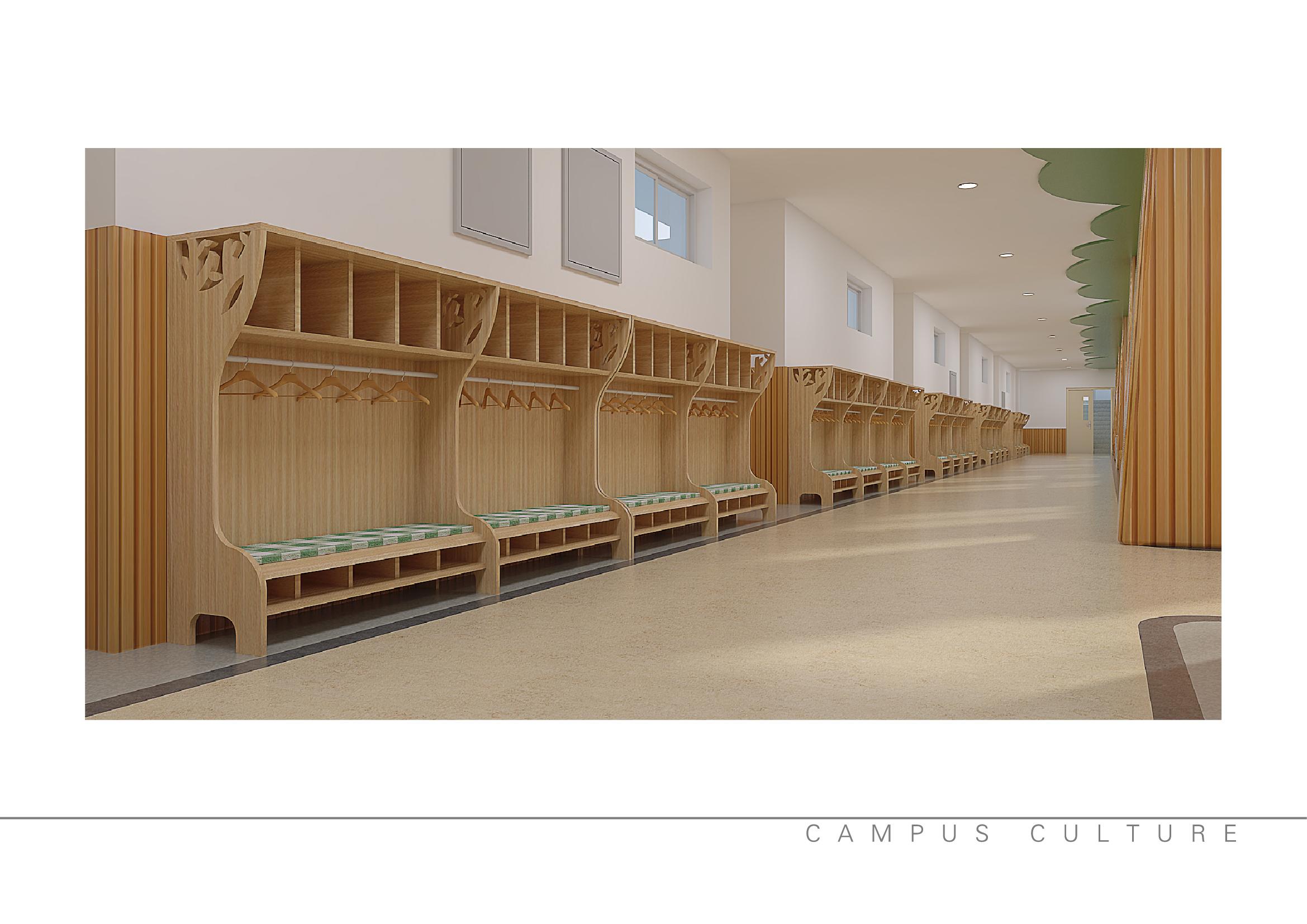 校园文化# 走廊设计
