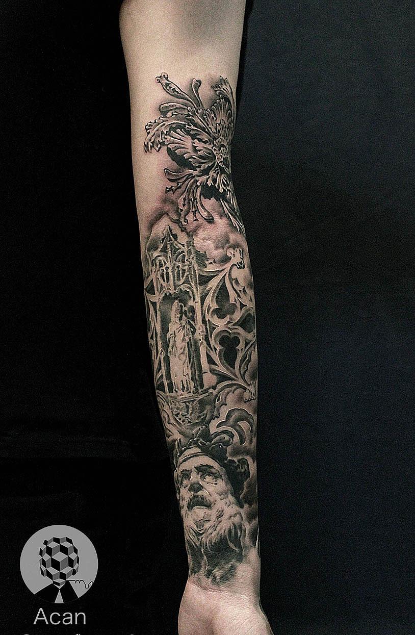 纹身素描图片