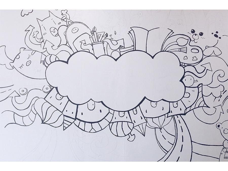 涂鸦手绘墙|涂鸦/潮流|插画|桃子lty