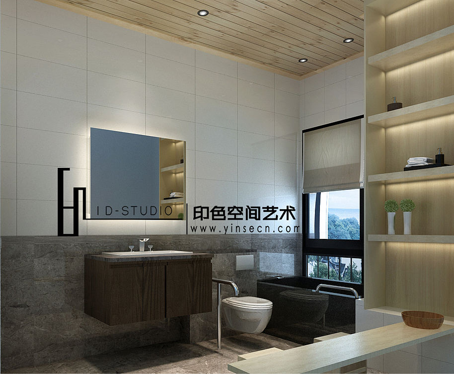 室内设计|三维|建筑/空间|印色 - 原创作品 - 站酷