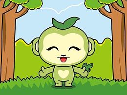 长树叶的猴子