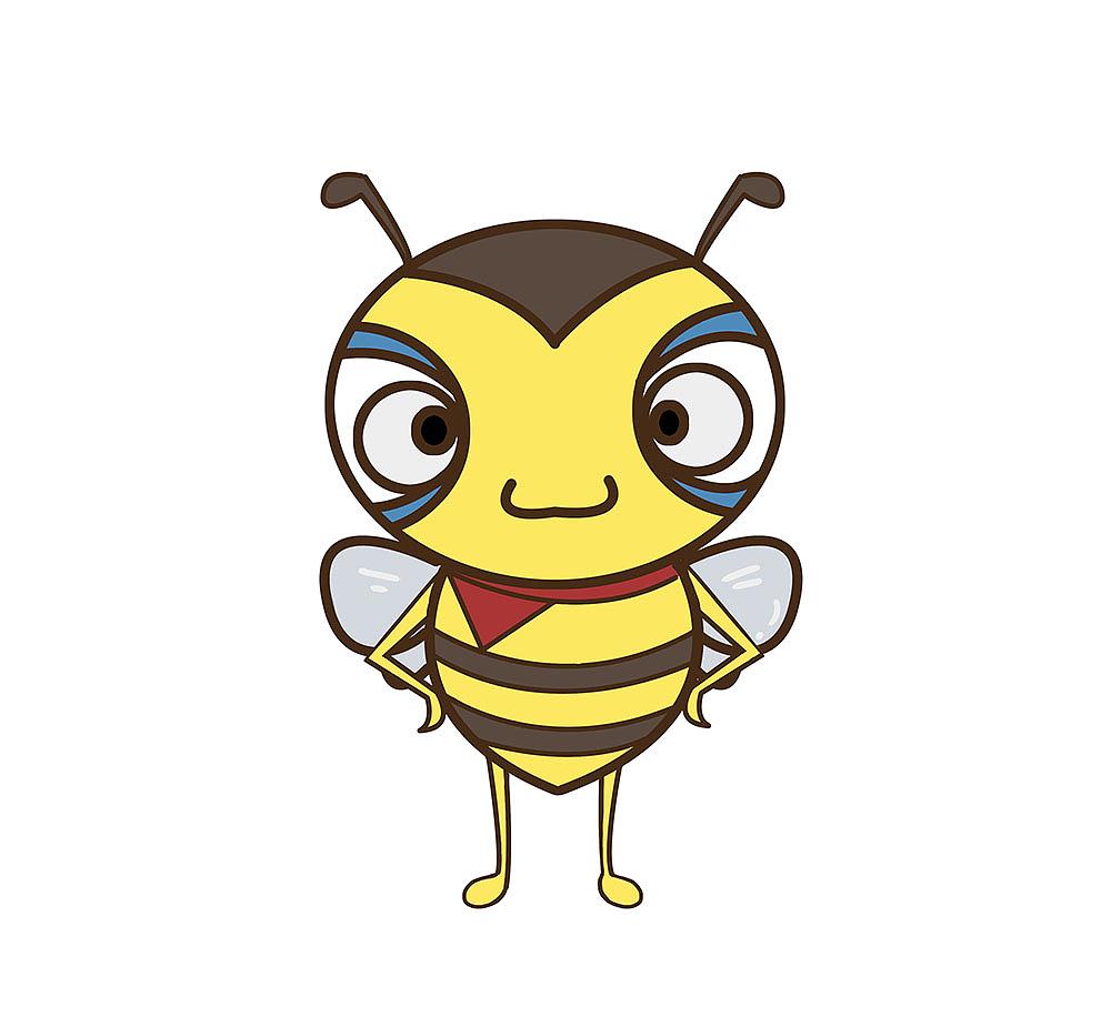 设计的蜜蜂卡通形象,形象中透着一种帅气,虽然你没有选他,但是我喜欢图片