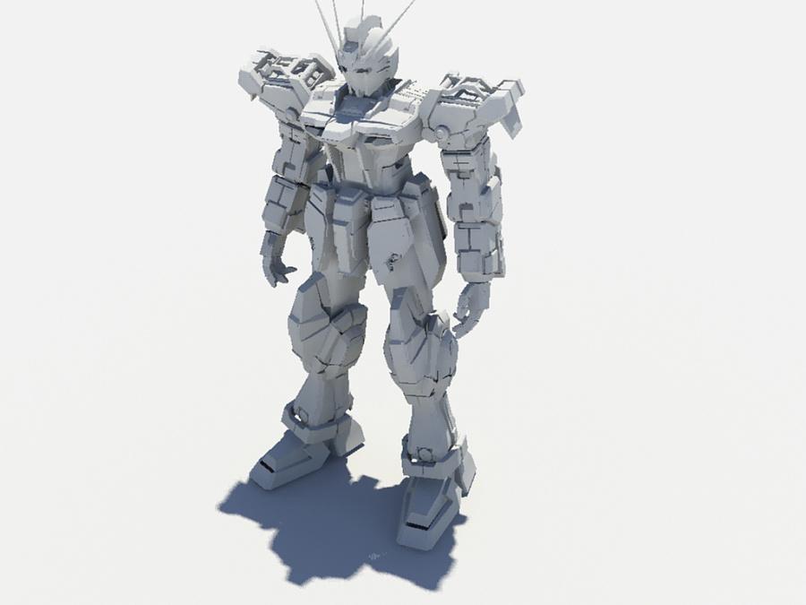 3D模型原创动漫|工地|三维|贼将高达-强袭设框图纸飞蝗剪图片