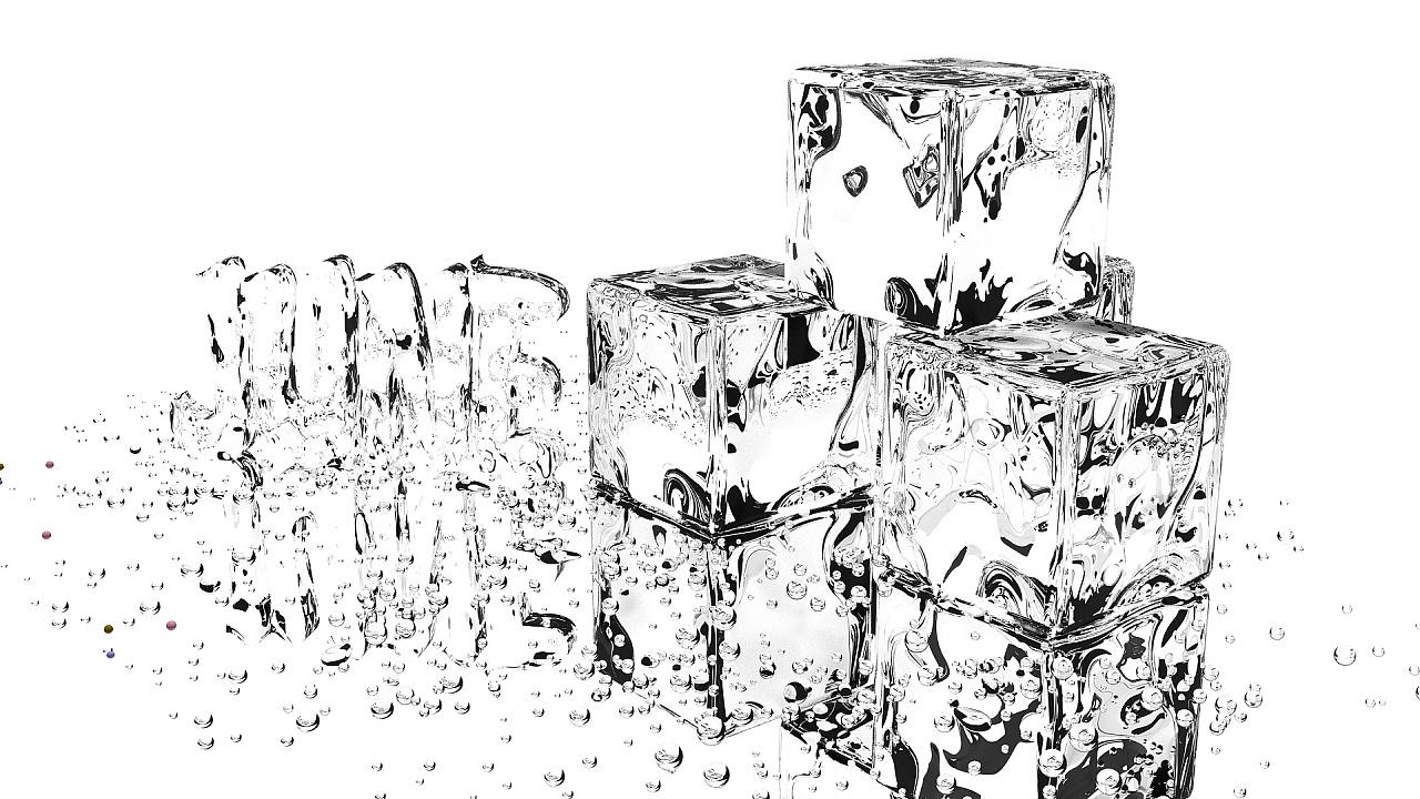 壁纸黑白冰块桌面三维3d