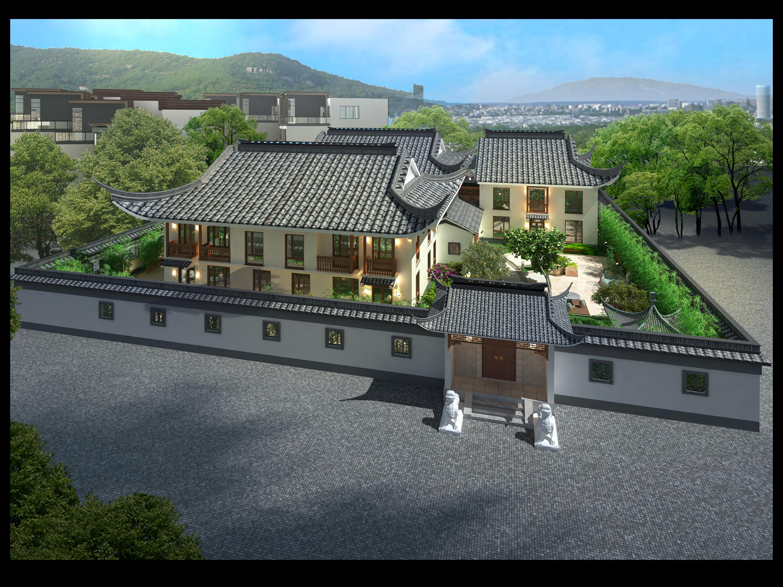 上海某四合院装配catia设计设计素材图片