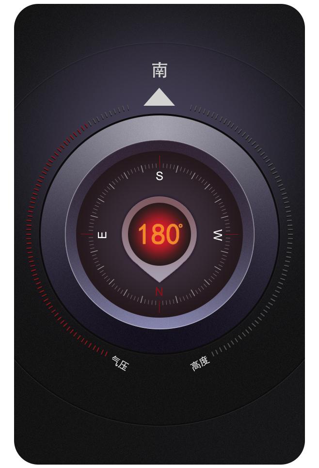 气压指南针图片