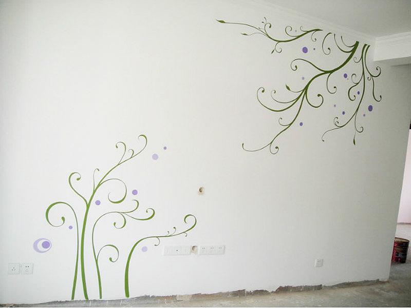 电视墙壁手绘图|插画|涂鸦/潮流|西安学校商场墙绘